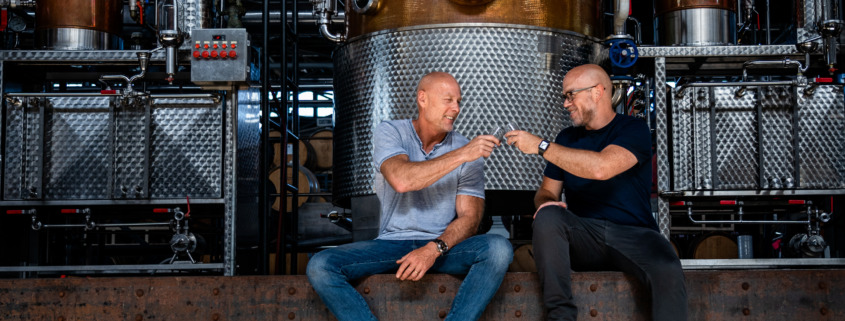 Lance Winters, Dave Smith at St. George Spirits distillery
